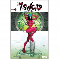 7th Sword #1 Convention Exclusive Signed by cover artist Andrew Robinson $5